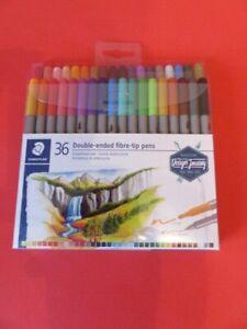 Staedtler 36 Double-ended fibre tip pens- Brand New in Sealed Pack