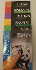 Draw 50 X6 Titles - Animals Cats Horses Flowers Dinosaurs Endangered Animals NEW