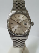 Vintage Rolex Datejust Tiffany Co 16030 Mens SS Quickset Watch For Big Man
