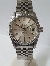 Vintage Rolex Datejust Tiffany Co 16030 Mens SS Quickset Watch For Big Man