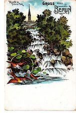 Gruss aus Berlin Künstler-AK um 1900 Wasserfall im Victoria-Park Vögel 1502414