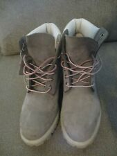 """Pre-Owned Timberland Vintage Style# 30043 Grey/Pink 6"""" Boots! Size 11M."""