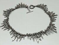Traumschönes 800 Silber Collier Handarbeit 60er - 80er Jahre 39,5 cm lang /A430