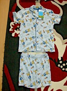 George Asda Boys Peter Rabbit Grey Traditional Pyjamas UK Size 5-6 Years New