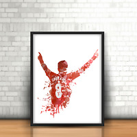 Steven Gerrard - Liverpool Inspired Football Art Print Design The Reds Number 8