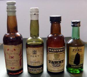 Four Miniature Port Bottles - Vintage 1960s