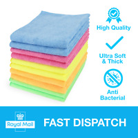Premium Microfibre Cleaning Cloths Dusters Polish Towels Home Kitchen Car