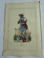 BRESIL planteur en costume LITHOGRAPHIE originale du recueil  M.BOULGON 1860
