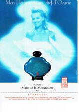 Publicité Advertising 018  1988  Marc de la Morandière parfum Bleu de Chine