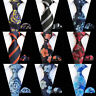 Men's Wide Tie Pocket Square Business Floral Striped Necktie Handkerchief Set