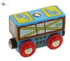 wagon pour circuit de train en bois aimanté, élément train bois,jouets en bois**