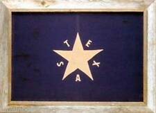 "Texas First Flag  Framed Barnwood Flag 20""x28"" (DeZavala Flag)"