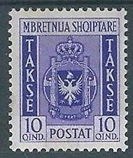 1940 ALBANIA SEGNATASSE 10 Q MH *  - RR2132