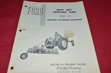 Ford Tractor 717 Heavy Duty Adjustable Blade Operator's Manual Chpa