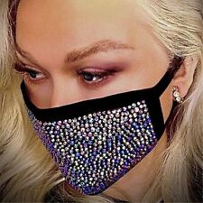Shiny Rhinestones Face Cover Dust Proof Anti Haze Breathable Cotton Mask New