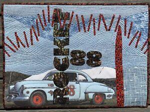 """""""Rocket 88"""" - Art Quilt Wall Hanging"""