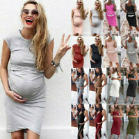 Fashion Women's Comfortable Dresses Casual Daily Wear Pregnant Maternity Dress