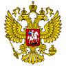 """Adhesivo para el coche o la moto """" RUSIA Escudo Sticker Pegatina sin fondo 11cm"""