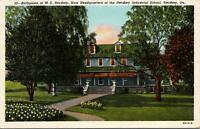 Hershey PA Birthplace now Hershey Industrial School Postcard unused 1930s/40s