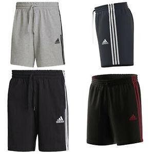 adidas kurze Hose Short Herren Männer mit Taschen 3 Streifen Optik Baumwolle