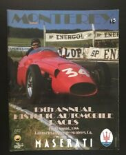 1988 MONTEREY 15th Annual Historic Race Maserati Program Laguna Seca Racetrack 1
