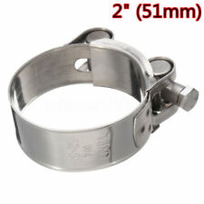 Rear 2'' 51mm Stainless Steel Motorcycle Exhaust Pipe Clamp Calipers Universal