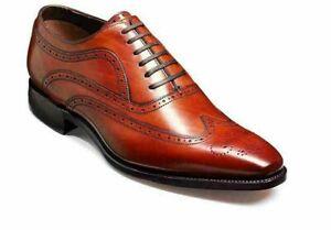 Chaussures en cuir Oxford faites à la main en cuir véritable avec palissandre et