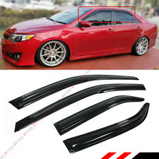 FOR 2012-2014 TOYOTA CAMRY JDM WAVY 3D WAVY DOOR WINDOW VISOR VENT RAIN GUARD