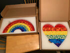 DAMIEN HIRST CHARITY EDITIONS BUTTERFLY RAINBOW AND HEART 2 PIECES EDITION SMALL