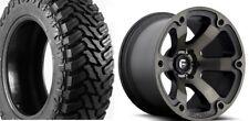 """20x10 Fuel Beast D564 Wheels Rims 33"""" Atturo MT Tires 8x170 Ford F250 F350 Super"""