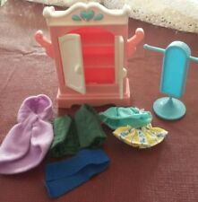 Fisher Price Loving Family Dream Dollhouse Bedroom Dream Wardrobe w Clothes
