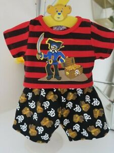 Build A Bear clothes outfit boys pirate treasure PJs pyjamas VERY RARE