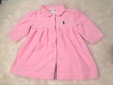 Ralph Lauren Velvet Dress Baby Girl 6M Pink 6 Months New Soft Set