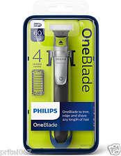 Nuevo * Phillips un blade QP2530 Recargable Afeitadora Cortadora 4 X Peines + Cargador