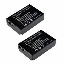 2 pack  Battery For Canon LP-E12 EOS M,M50,M2,M100,M10,100D, Rebel SL1 EOS M200