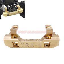 Heavy Duty Brass Front Bumper Mount Gold w/Servo Mount For Traxxas Trx-4 Rc Car