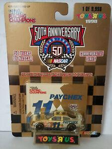 Brett Bodine Paychex Toys R Us 1/64 Racing Champions Gold Diecast Car / NOC
