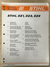 NEW Stihl 021 023 025 Chainsaw Spare Parts List FREE SHIPPING