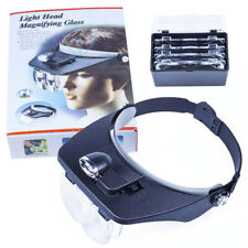 Headband LED Lamp Magnifier Dentist Magnifying Glass Read Repair Jewelry Loupe