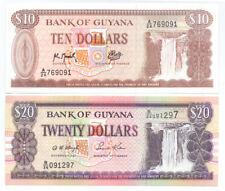 Guyana 20 Dollars 1996 Africa UNC Cooperative Republic Uncirculated Banknote