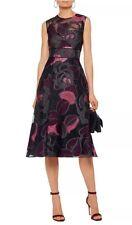 NWT $1995 Lela Rose Organza Linear Leaf Fil Coupe Dress Size 6