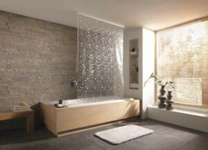 Kleine Wolke Duschrollo für Leerkassette 128 x 240 cm perlmutt Bad Dusche