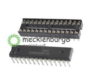IC ATMEGA328P-PU ATMEGA328P DIP28 Microcontroller ATMEL  + DIP SOCKET NEW