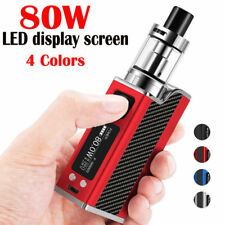 Fashion 80W Big Breath E Mod Box Starter Kit Cigarette Vape Tank LED High Power