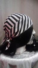 Black & White Striped Pirate Bandana Ladies Mens Kids Fancy Dress Book Day