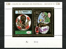 Cambodge Cambodia Football Munich 74 Gold foil Or Bloc 36 A Michel 100 euros