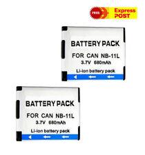 2Pcs NB-11L NB11L 3.7V 680mAh Digital Li-ion Battery Pack For Canon Camera AUexp