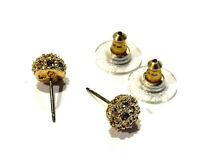 Boucles d'oreilles Swarovski pour oreilles percées alliage doré earrings