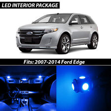 2007-2014 Ford Edge Blue Interior LED Lights Package Kit