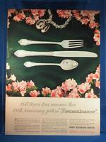 Vintage Magazine Ad Print Design Advertising Rogers Silverplate Dinnerware